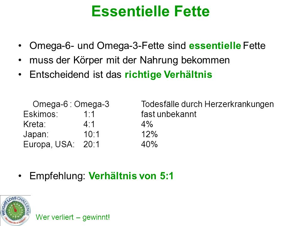 Essentielle Fette Omega-6- und Omega-3-Fette sind essentielle Fette