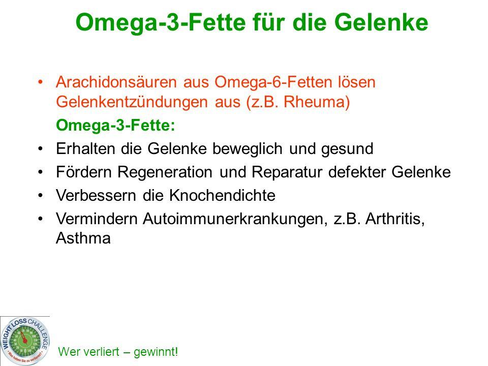 Omega-3-Fette für die Gelenke