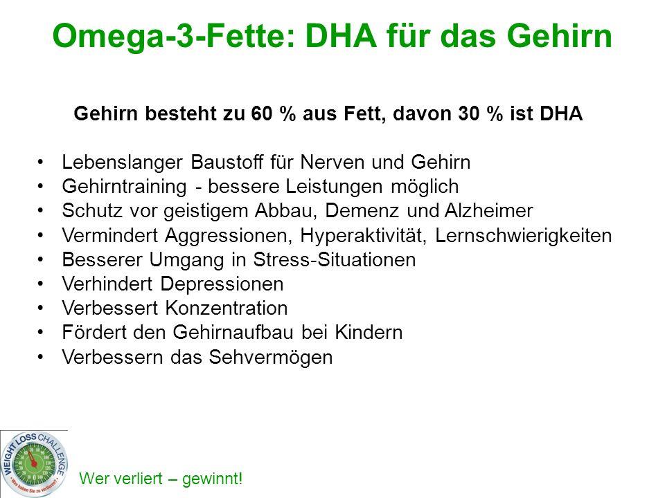 Omega-3-Fette: DHA für das Gehirn