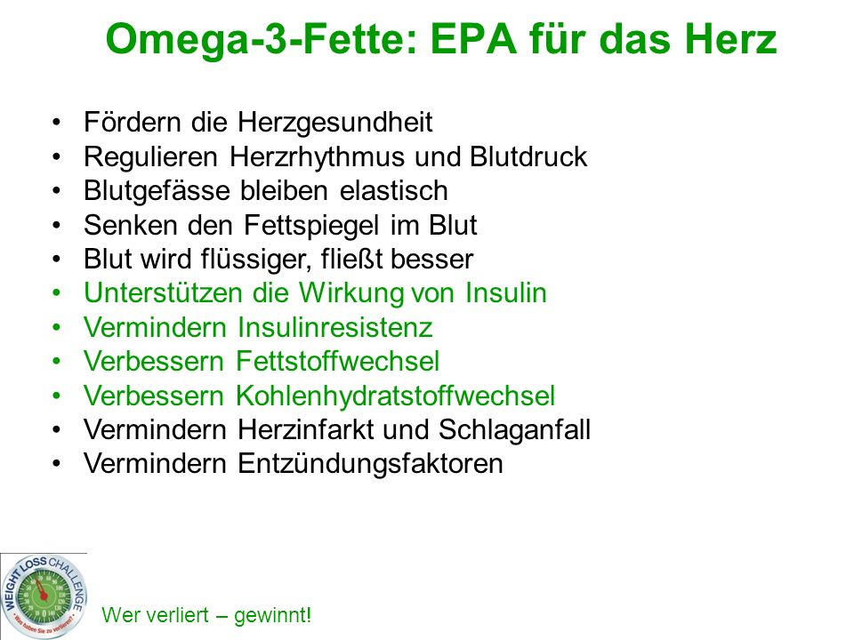 Omega-3-Fette: EPA für das Herz