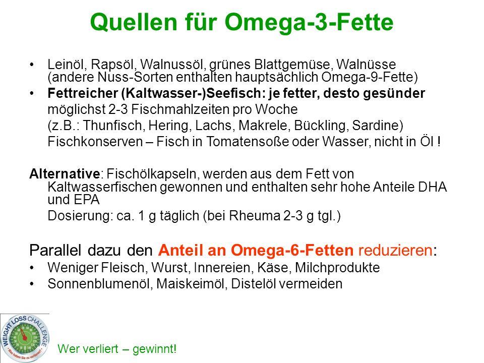 Quellen für Omega-3-Fette