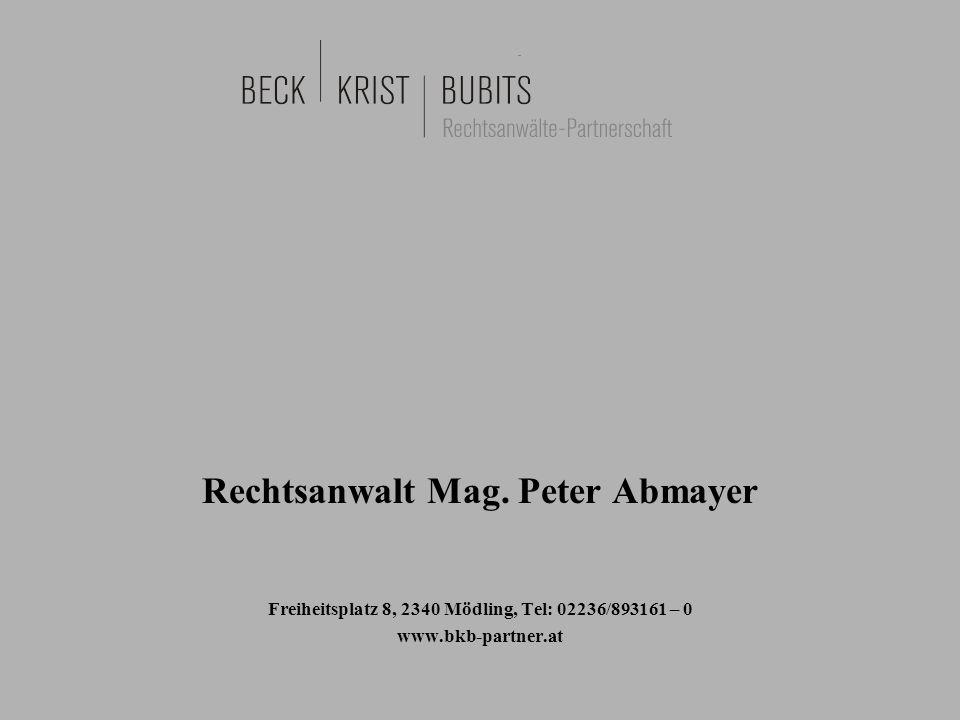 Rechtsanwalt Mag. Peter Abmayer