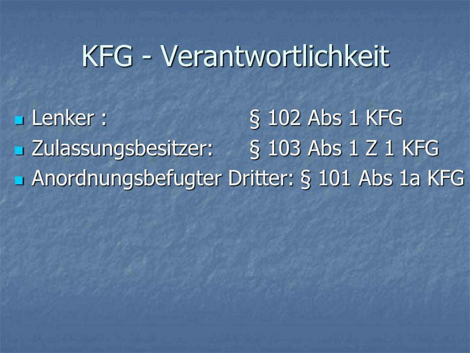 KFG - Verantwortlichkeit
