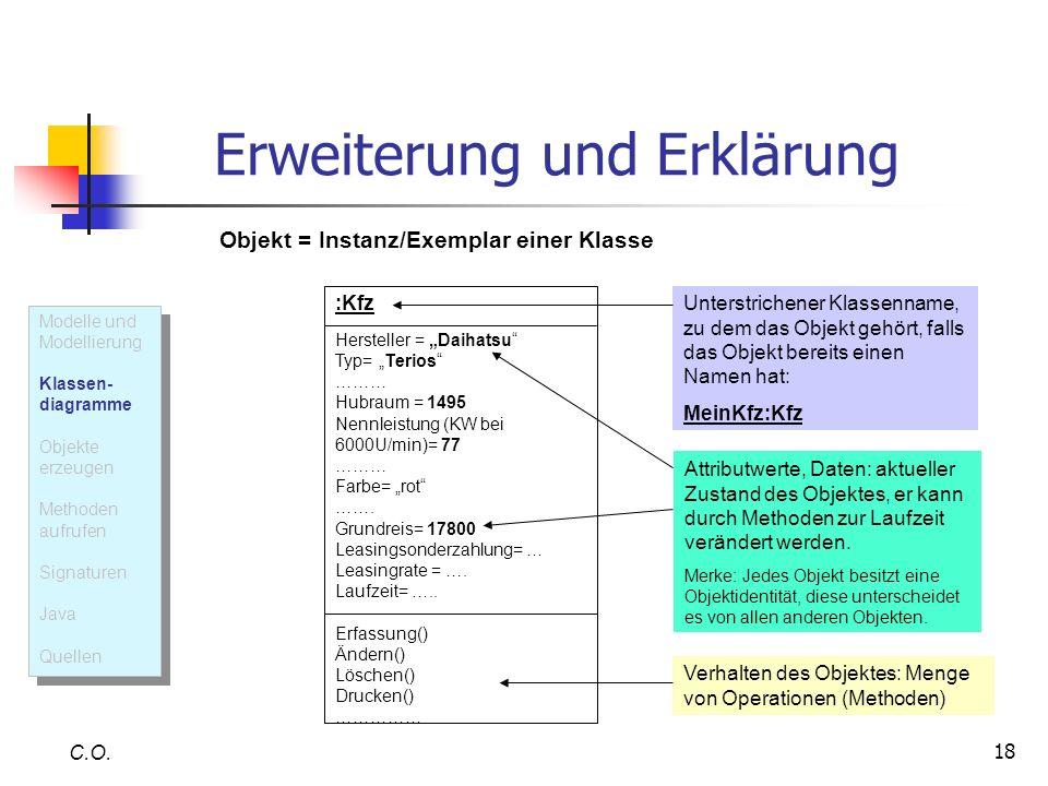 Erweiterung und Erklärung