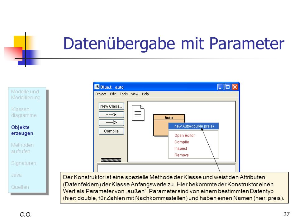 Datenübergabe mit Parameter