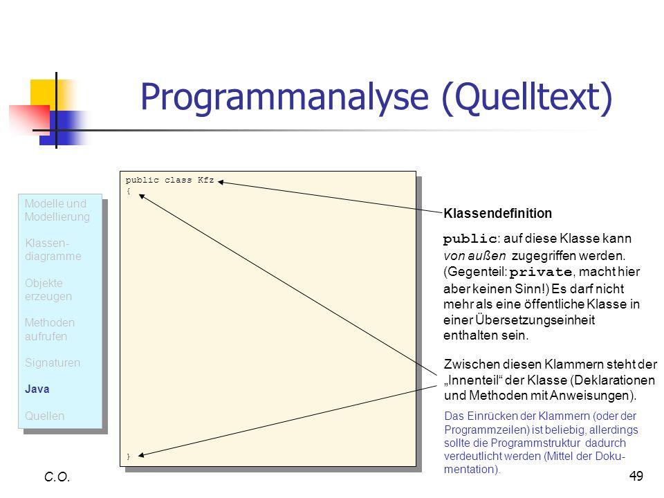 Programmanalyse (Quelltext)