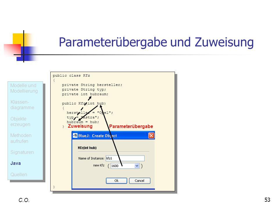 Parameterübergabe und Zuweisung