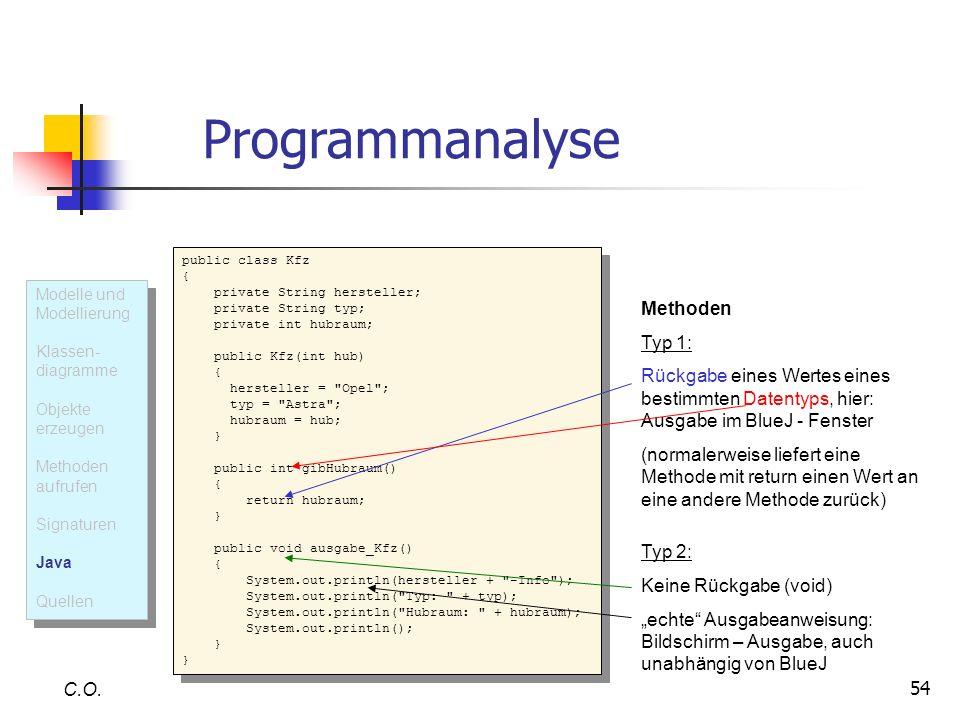 Programmanalyse Methoden Typ 1: