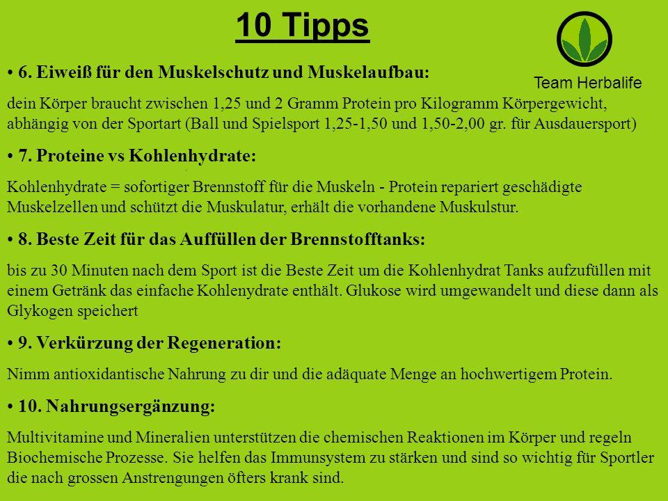 10 Tipps 6. Eiweiß für den Muskelschutz und Muskelaufbau: