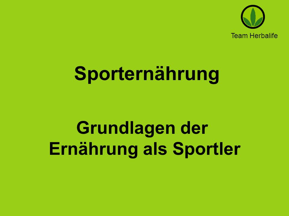 Ernährung als Sportler