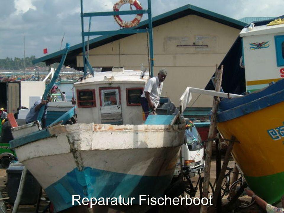 Reparatur Fischerboot