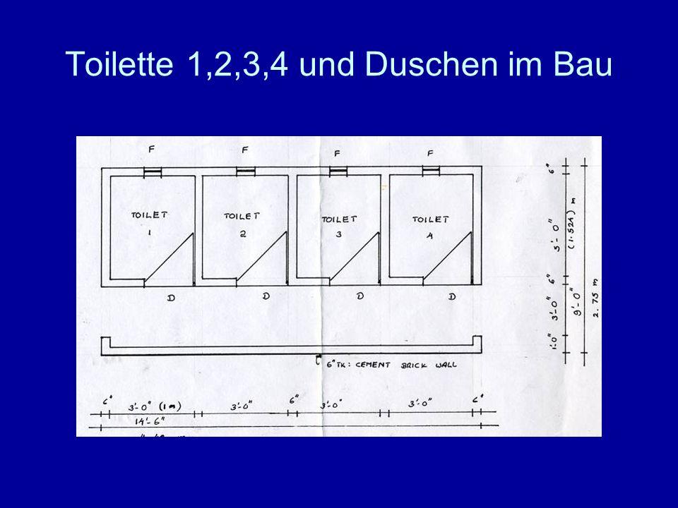 Toilette 1,2,3,4 und Duschen im Bau