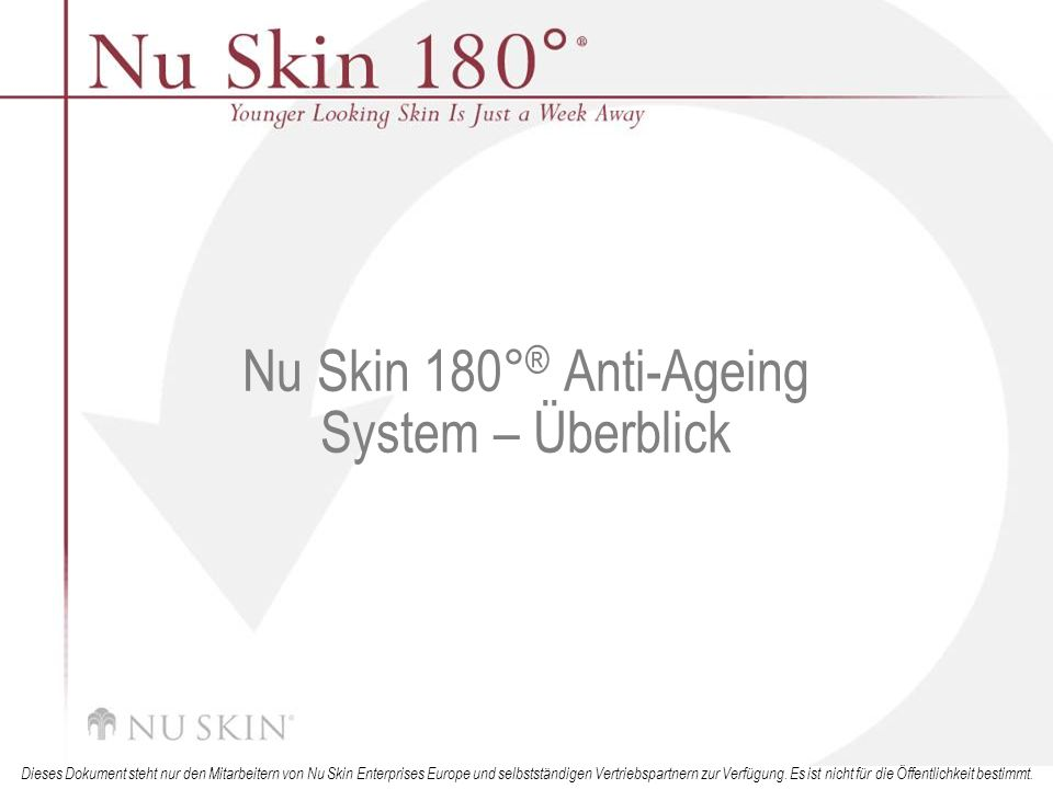 Nu Skin 180°® Anti-Ageing System – Überblick