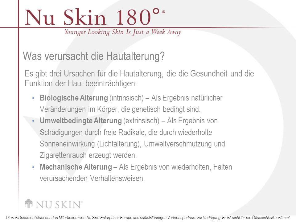 Was verursacht die Hautalterung