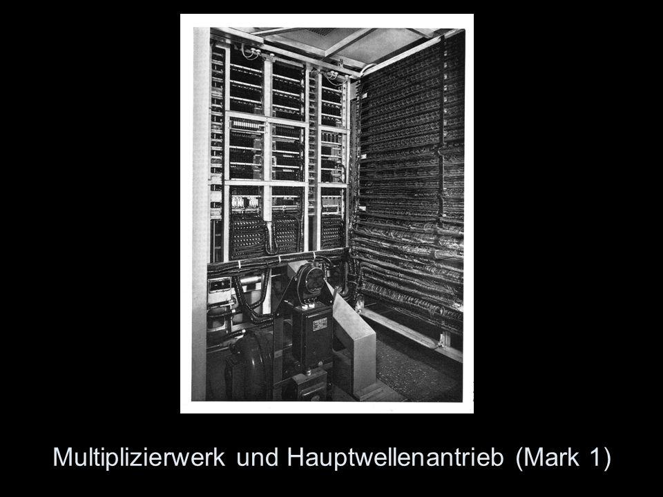 Multiplizierwerk und Hauptwellenantrieb (Mark 1)