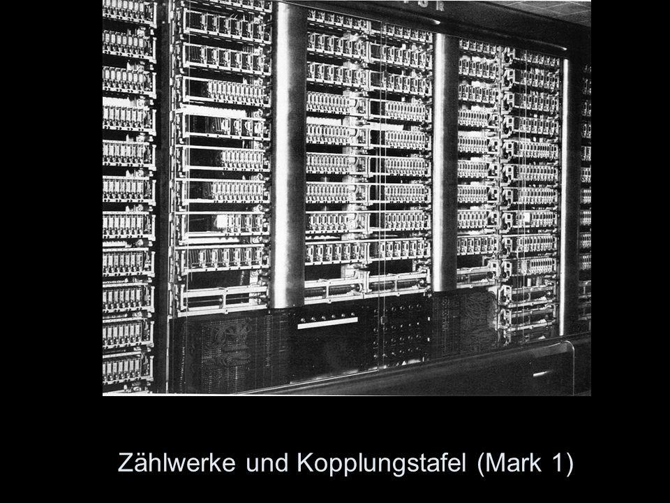 Zählwerke und Kopplungstafel (Mark 1)