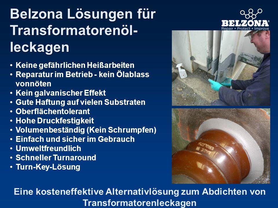 Belzona Lösungen für Transformatorenöl- leckagen