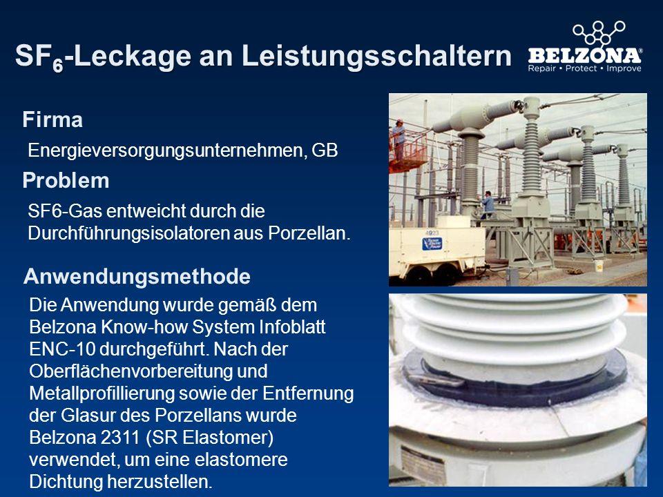 SF6-Leckage an Leistungsschaltern
