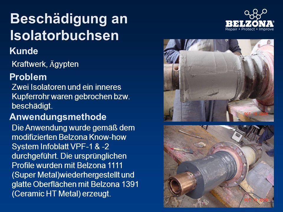 Beschädigung an Isolatorbuchsen Kunde Problem Anwendungsmethode