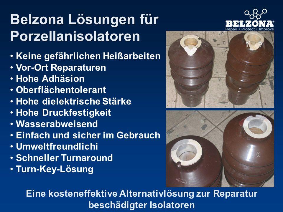 Belzona Lösungen für Porzellanisolatoren