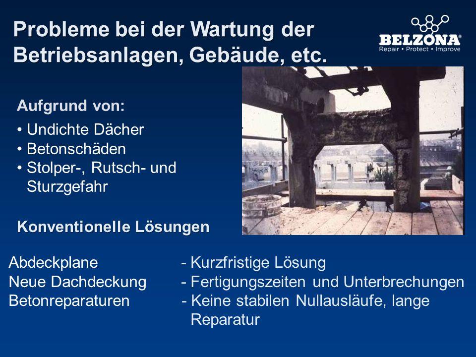 Probleme bei der Wartung der Betriebsanlagen, Gebäude, etc.