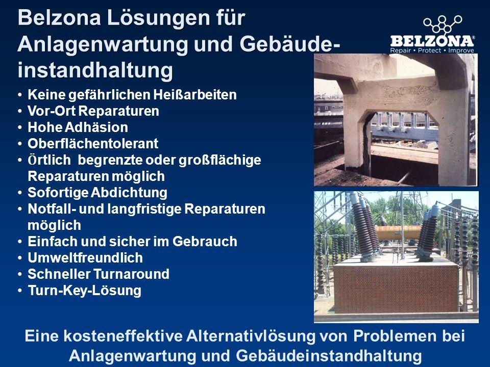 Belzona Lösungen für Anlagenwartung und Gebäude- instandhaltung