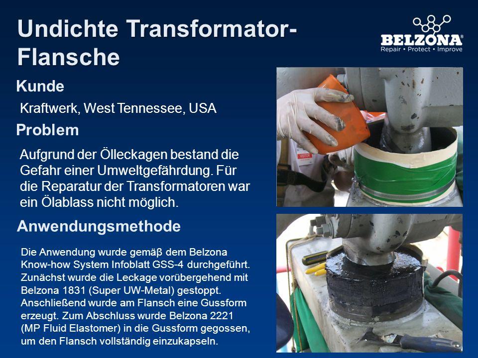 Undichte Transformator- Flansche