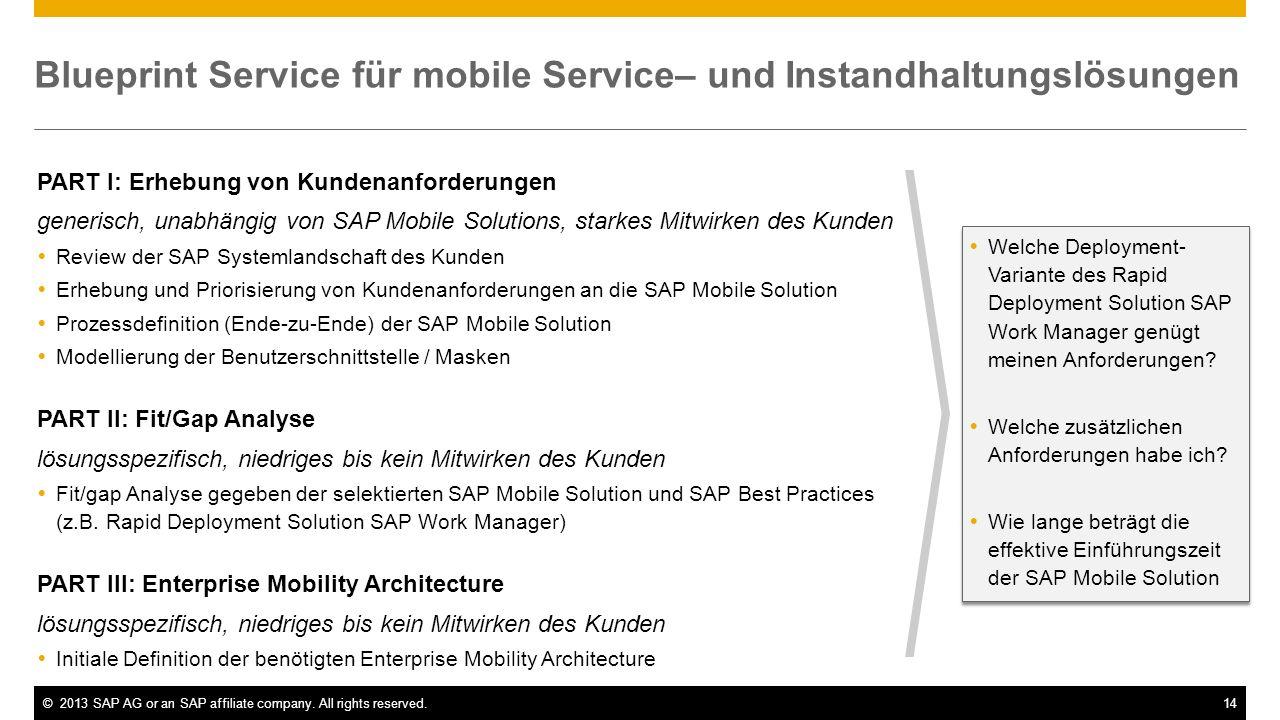 Blueprint Service für mobile Service– und Instandhaltungslösungen