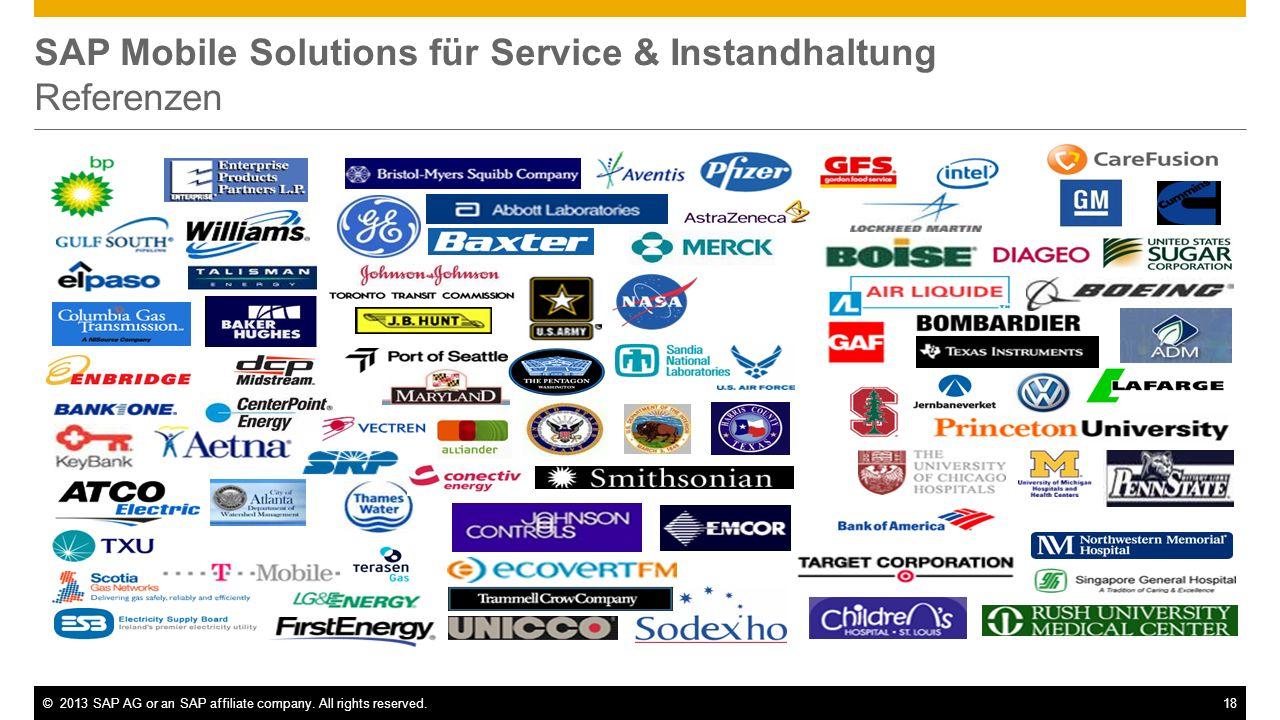 SAP Mobile Solutions für Service & Instandhaltung Referenzen