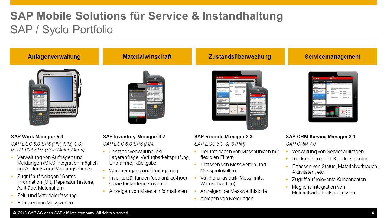 SAP Mobile Solutions für Service & Instandhaltung SAP / Syclo Portfolio