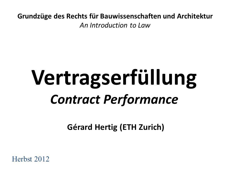 Vertragserfüllung Contract Performance
