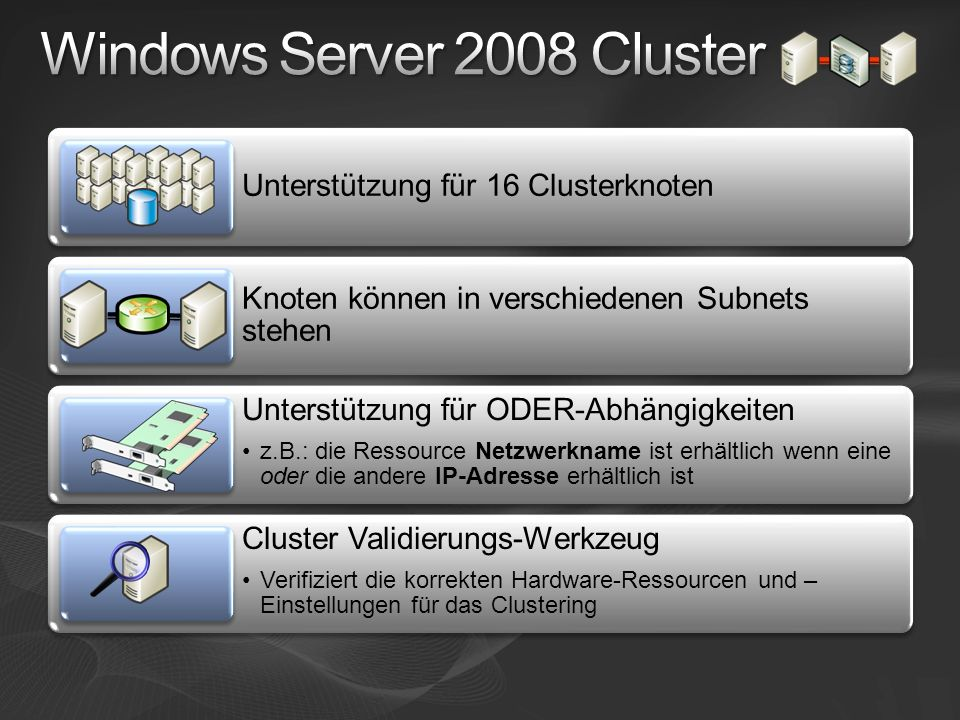 Windows Server 2008 Cluster