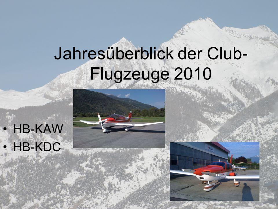 Jahresüberblick der Club-Flugzeuge 2010