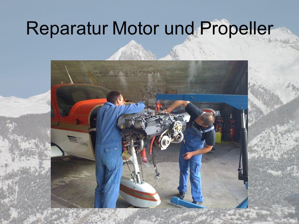 Reparatur Motor und Propeller