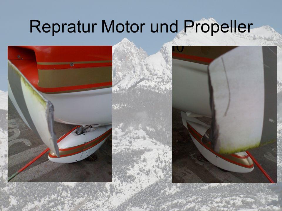 Repratur Motor und Propeller