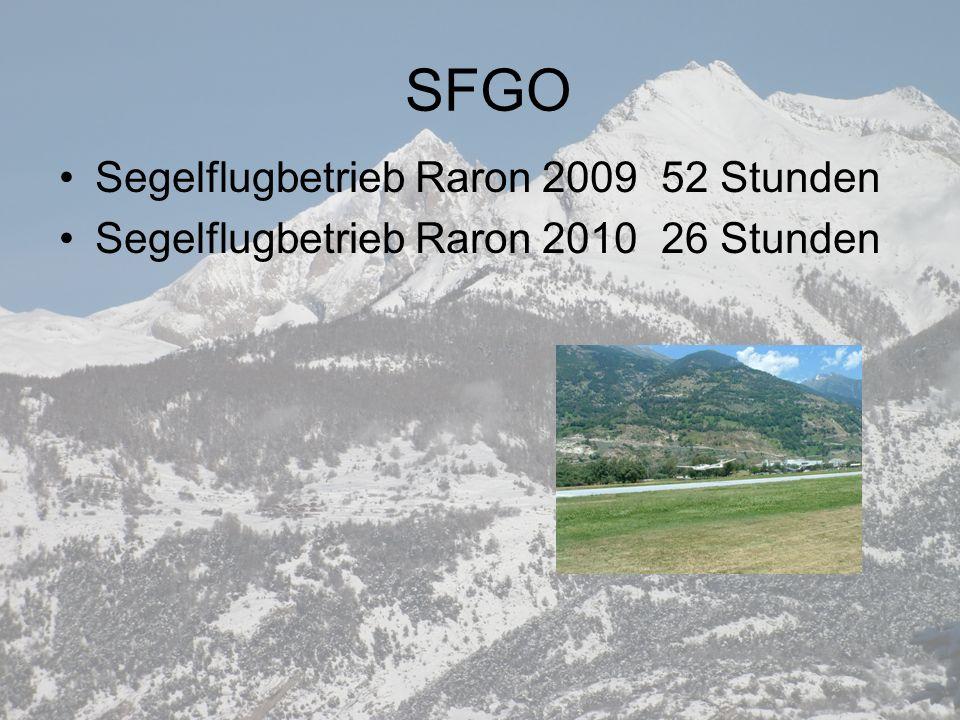 SFGO Segelflugbetrieb Raron 2009 52 Stunden