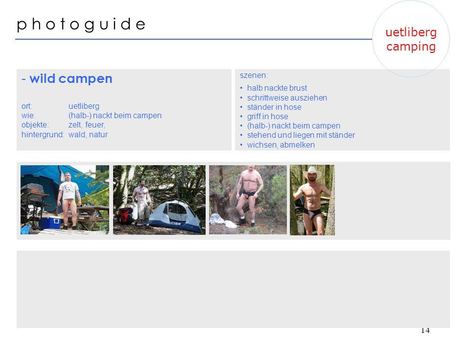 p h o t o g u i d e - wild campen uetliberg camping szenen: