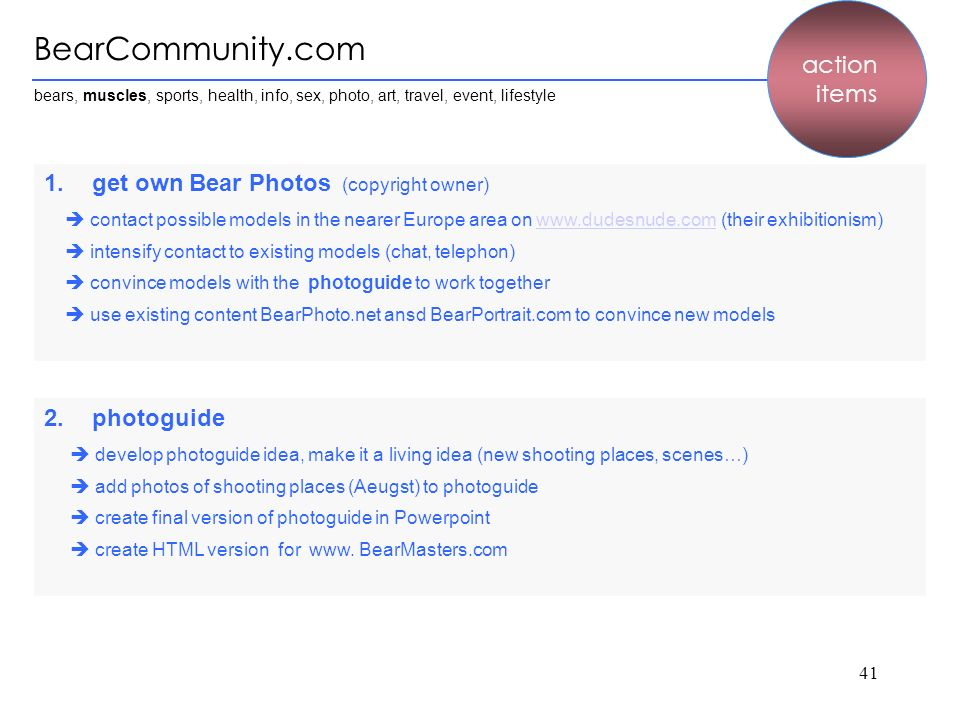 BearCommunity.com action items get own Bear Photos (copyright owner)