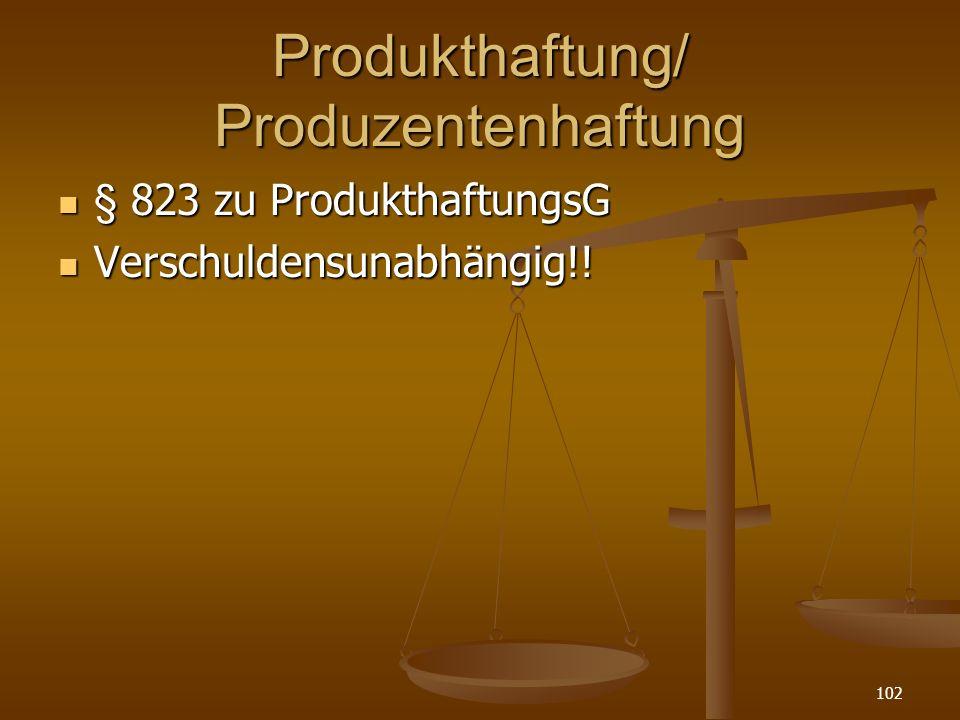 Produkthaftung/ Produzentenhaftung