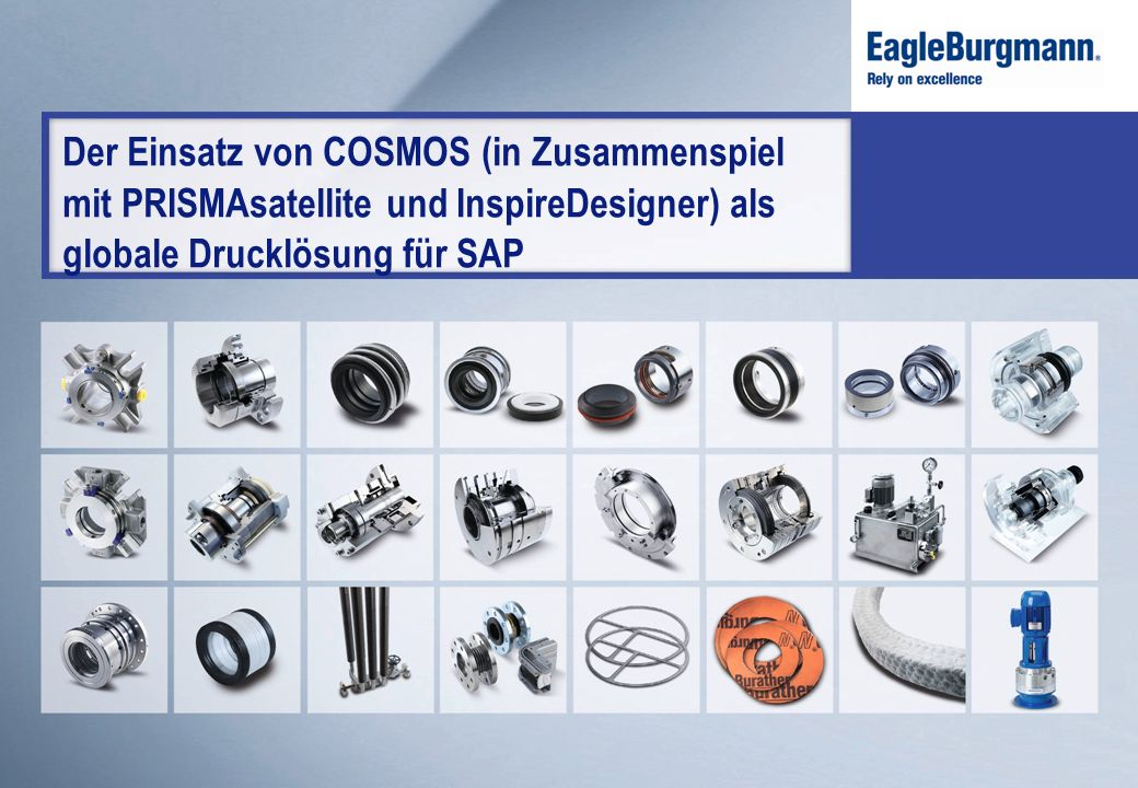 Der Einsatz von COSMOS (in Zusammenspiel mit PRISMAsatellite und InspireDesigner) als globale Drucklösung für SAP