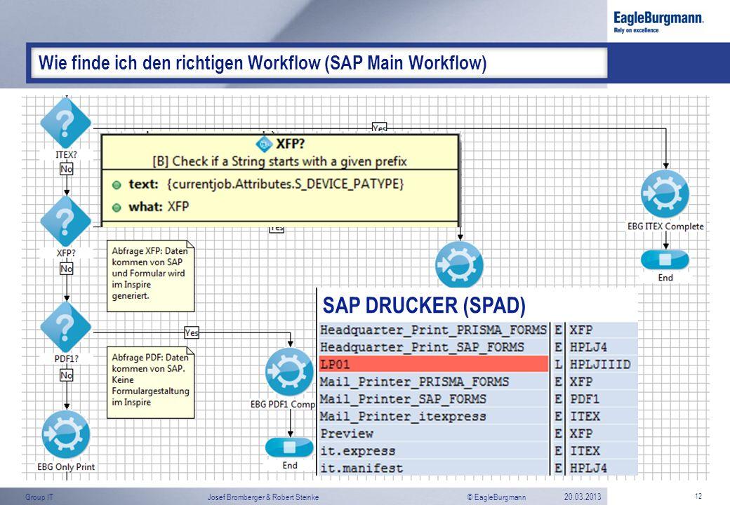 Wie finde ich den richtigen Workflow (SAP Main Workflow)