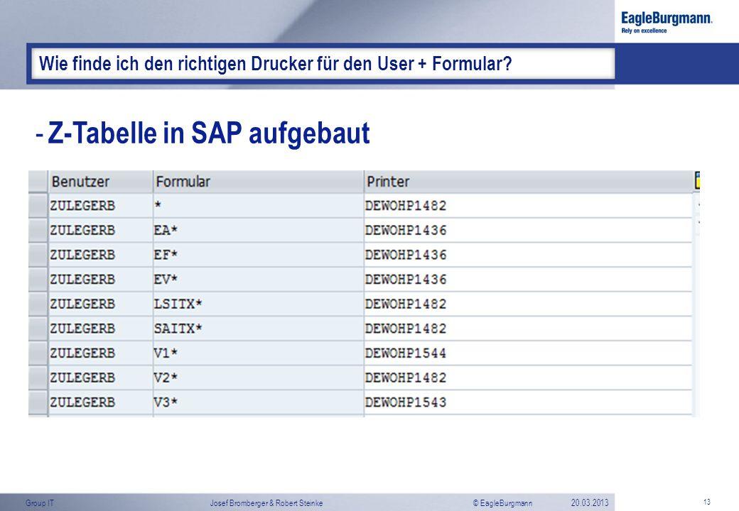 Z-Tabelle in SAP aufgebaut