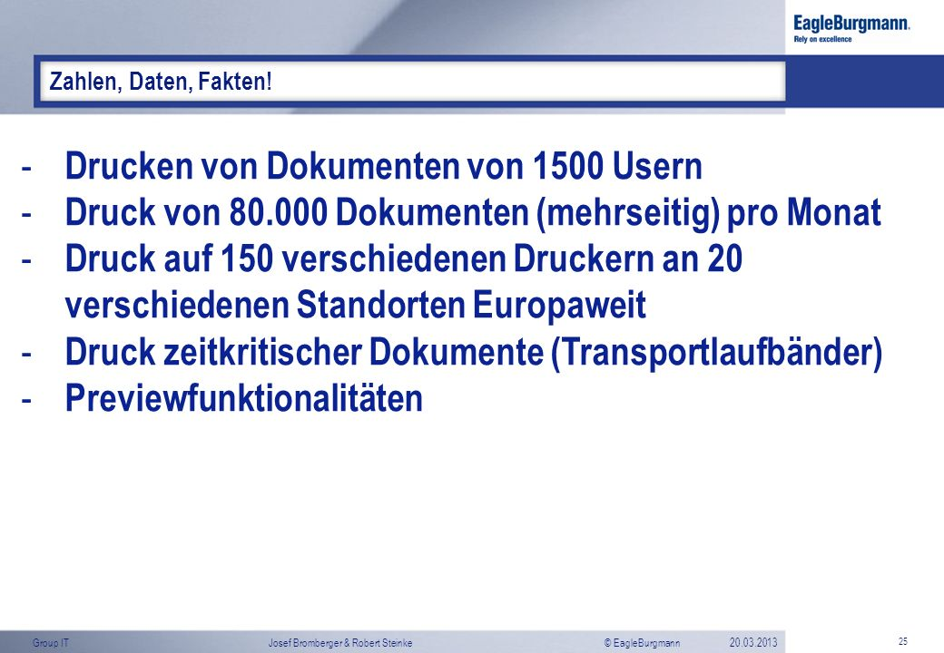 Drucken von Dokumenten von 1500 Usern