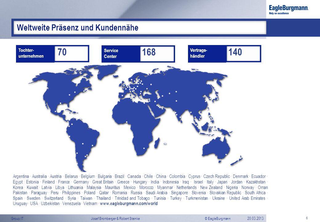 Weltweite Präsenz und Kundennähe