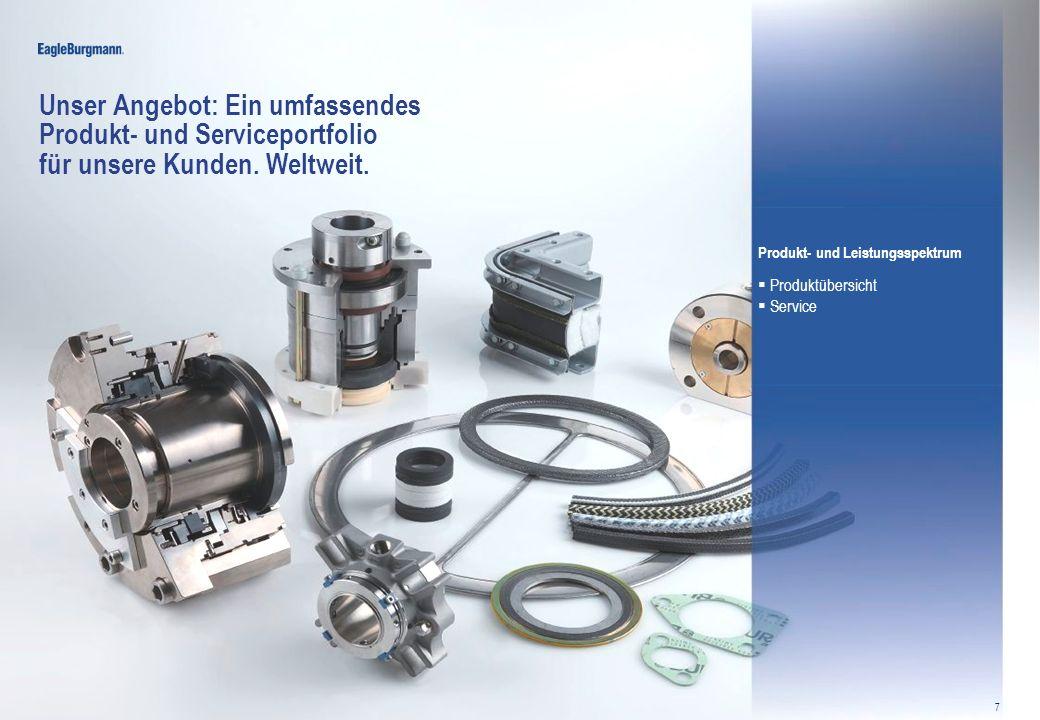 Unser Angebot: Ein umfassendes Produkt- und Serviceportfolio für unsere Kunden. Weltweit.