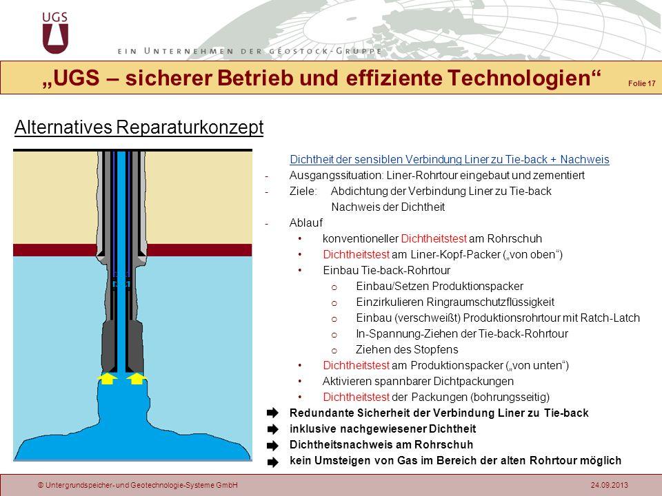 """""""UGS – sicherer Betrieb und effiziente Technologien"""