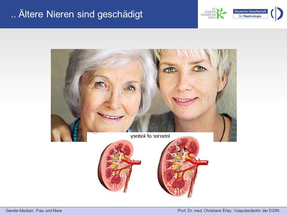 .. Ältere Nieren sind geschädigt