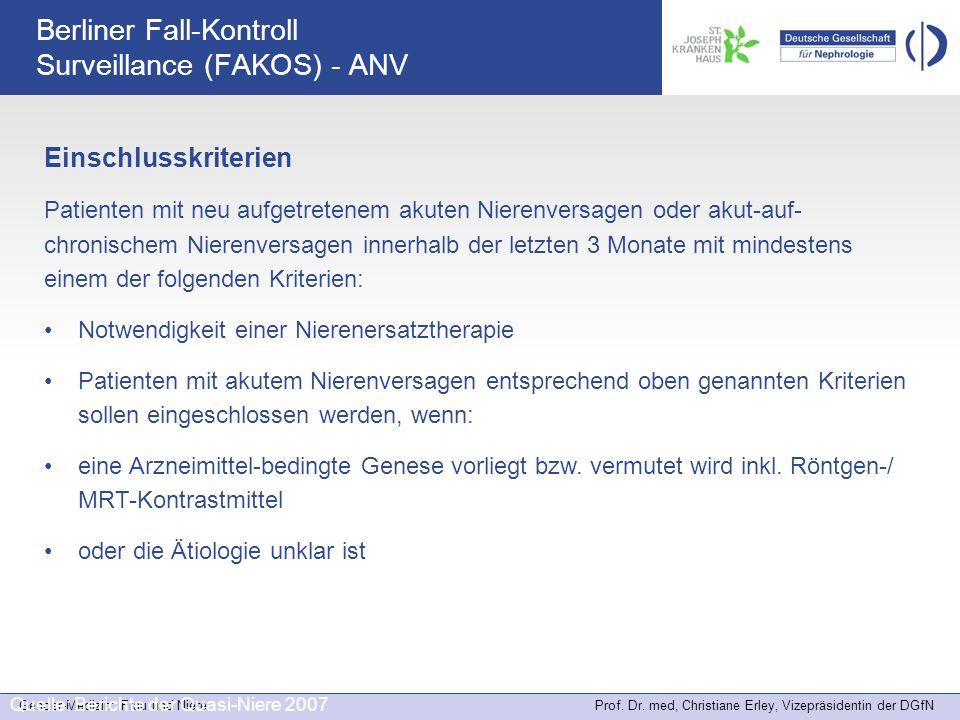Berliner Fall-Kontroll Surveillance (FAKOS) - ANV