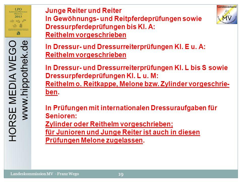 HORSE MEDIA WEGO www.hippothek.de Junge Reiter und Reiter