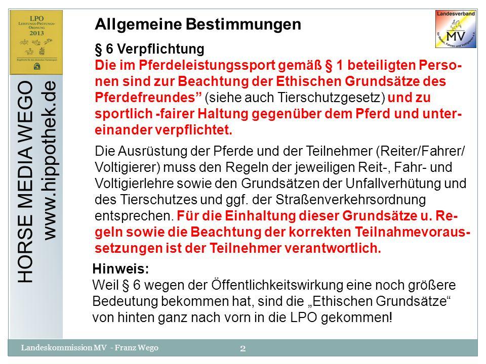 HORSE MEDIA WEGO www.hippothek.de Allgemeine Bestimmungen